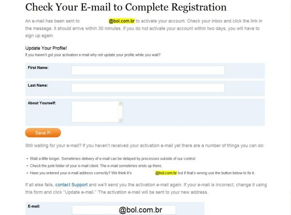 Confirmação do Registro